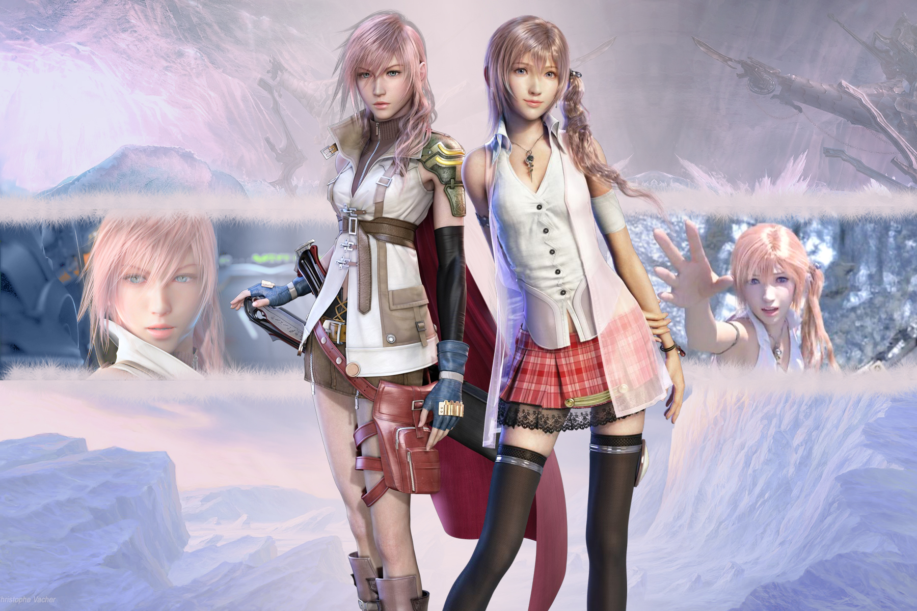 lightning and serah wallpaper by shinrawallpapers-d340ts9Final Fantasy Serah And Lightning